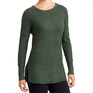 ATHLETA Cypress Crewneck Sweater Jasper Green